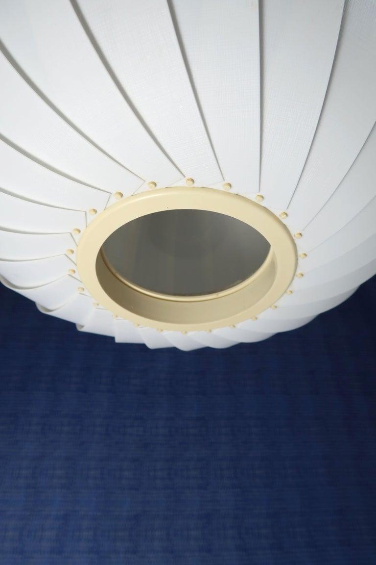 Late 20th Century Danish Modern White Globe Pendant by Lars E. Schiøler for Hoyrup, 1972 For Sale