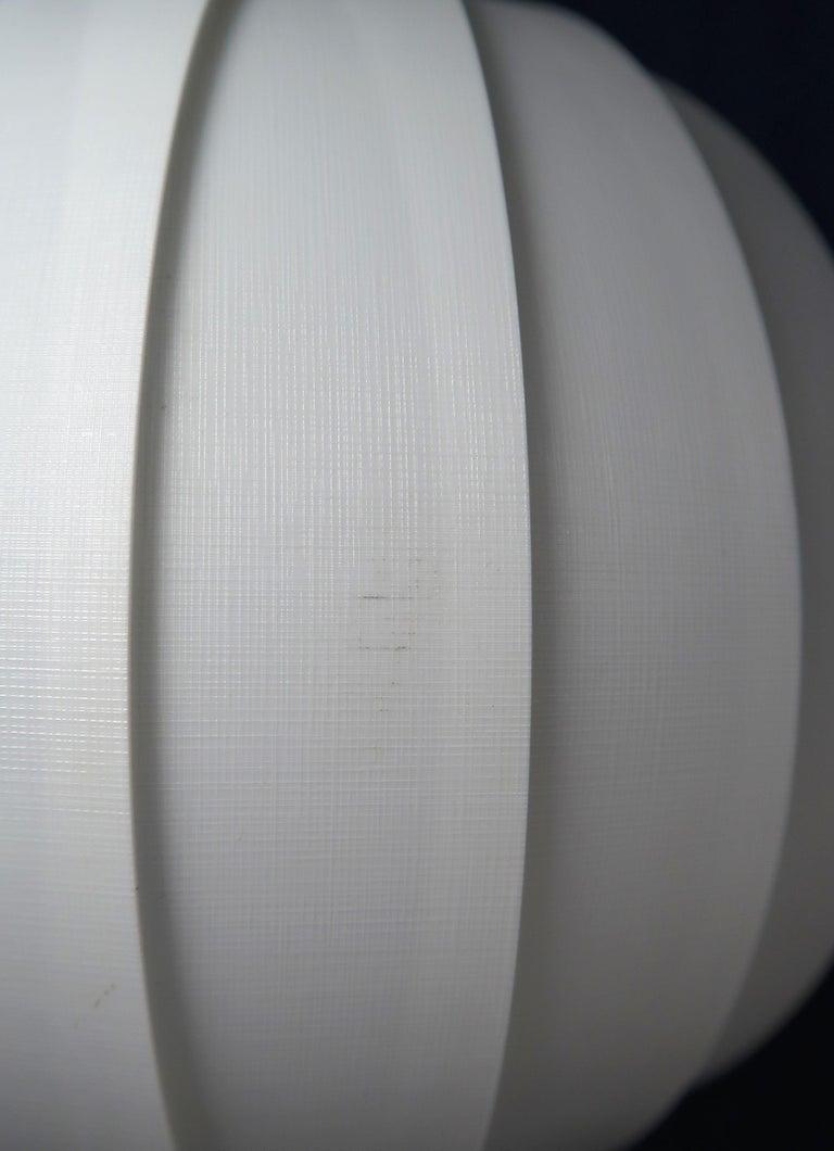 Plastic Danish Modern White Globe Pendant by Lars E. Schiøler for Hoyrup, 1972 For Sale