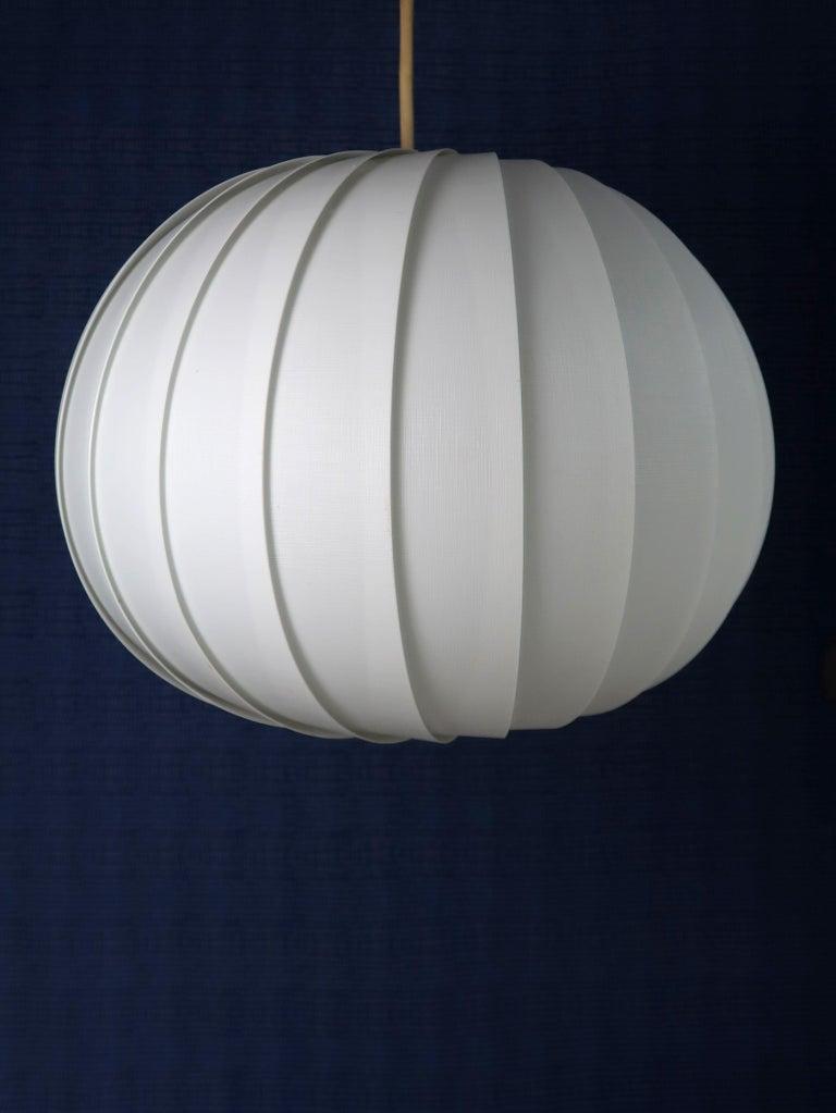 Danish Modern White Globe Pendant by Lars E. Schiøler for Hoyrup, 1972 For Sale 2