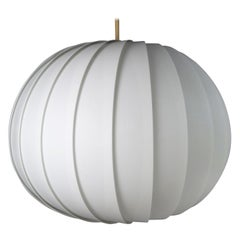 Danish Modern White Globe Pendant by Lars E. Schiøler for Hoyrup, 1972