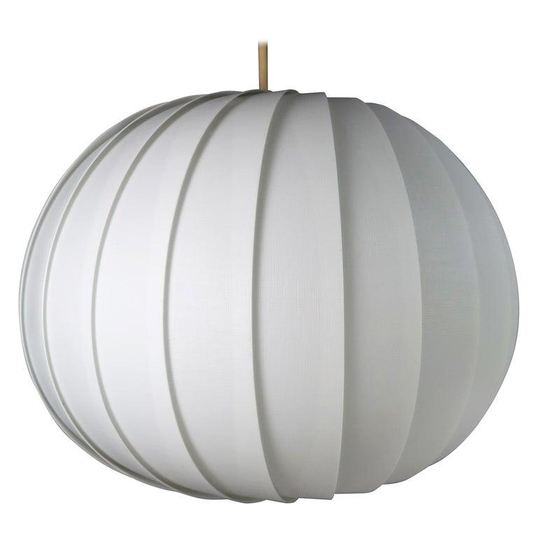 Danish Modern White Globe Pendant by Lars E. Schiøler for Hoyrup, 1972 For Sale