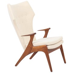 Danish Modern Wing Chair by Kurt Østervig