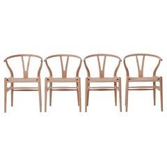 Danish Modern Wishbone Chairs CH24 in Oak