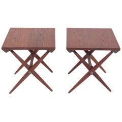 Danish Modern X End Tables by Jens Quistgaard