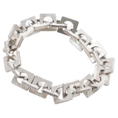 Danish Modernist 1960s Silver Bracelet by Rey Urban for Age Fausing