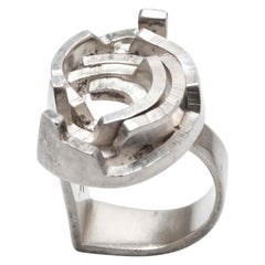 Danish Modernist 1960s Silver Ring by Rey Urban for Age Fausing
