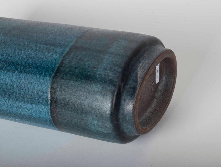 Danish Modernist Ceramic Vase in Blue and Green For Sale 3