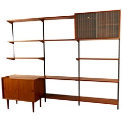 Danish Modular Teak Wall Unit by Kai Kristiansen, 1960s