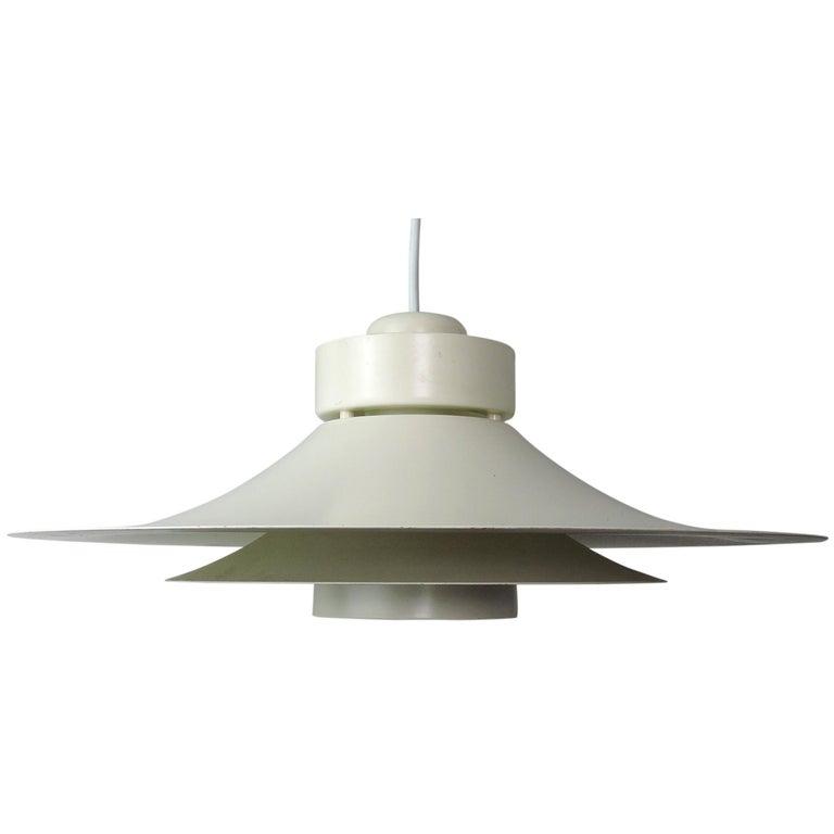 Danish Multi Layered Pendant From Horn Lighting 1960s For