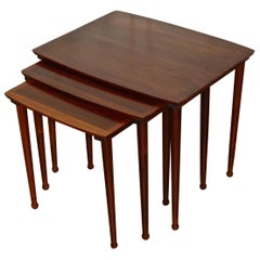 Danish Nesting Tables by Møbelintarsia in Rio Rosewood, 1960s