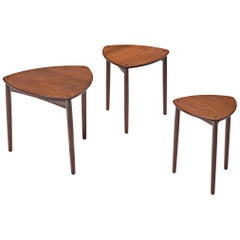 Danish Nesting Tables in Teak by Ejner Larsen and Aksel Bender Madsen