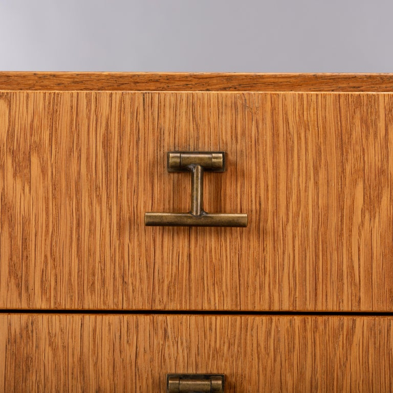 Danish Oak Chest of Drawers No. 234 by Børge Mogensen for FDB Mobler, 1960s For Sale 7