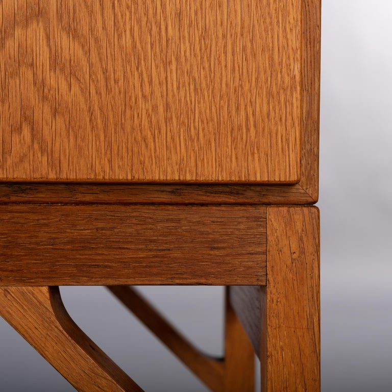 Danish Oak Chest of Drawers No. 234 by Børge Mogensen for FDB Mobler, 1960s For Sale 3