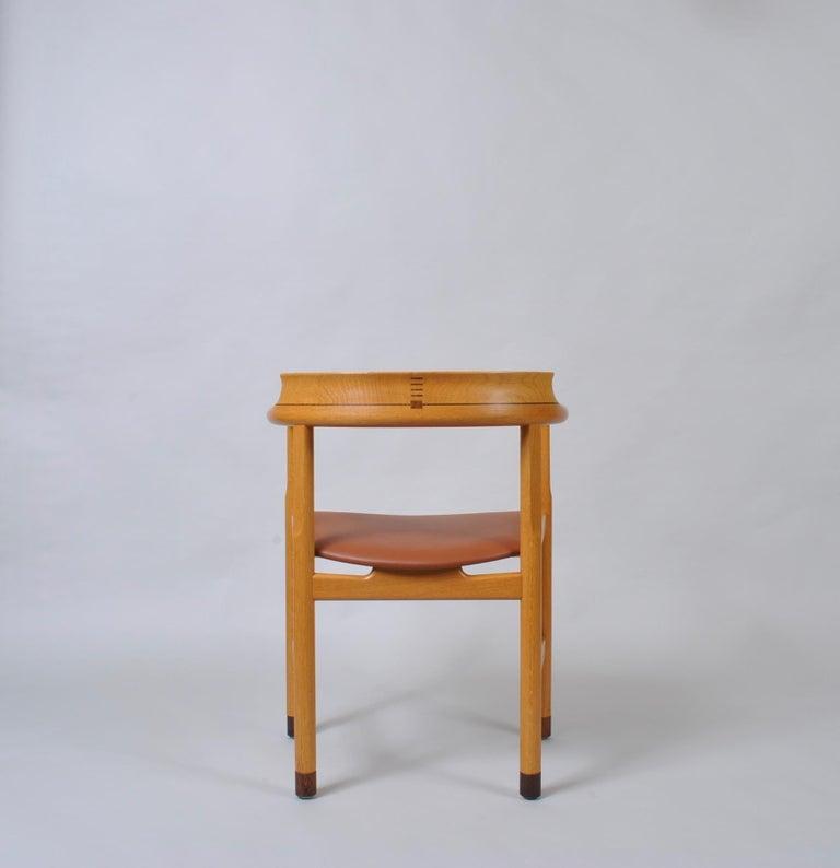 20th Century Danish Oak Desk Chair, Hans J Wegner For Sale