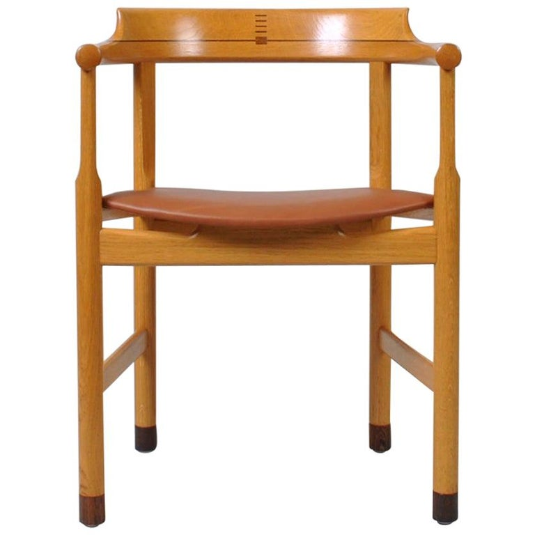 Danish Oak Desk Chair, Hans J Wegner For Sale