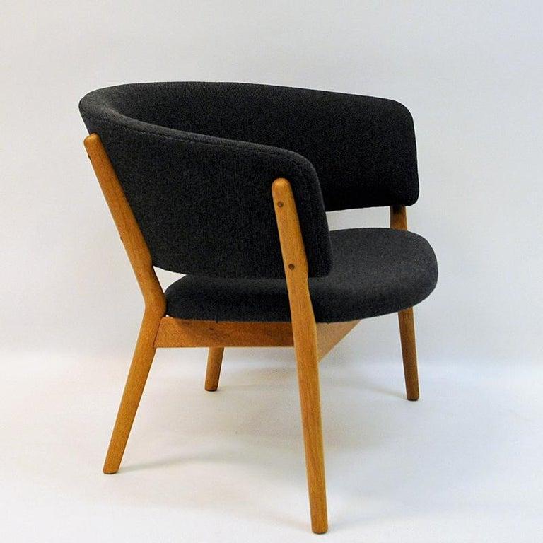 Scandinavian Modern Danish Oak Easy Chair Mod ND83 by Nanna Ditzel, Denmark, 1950's For Sale