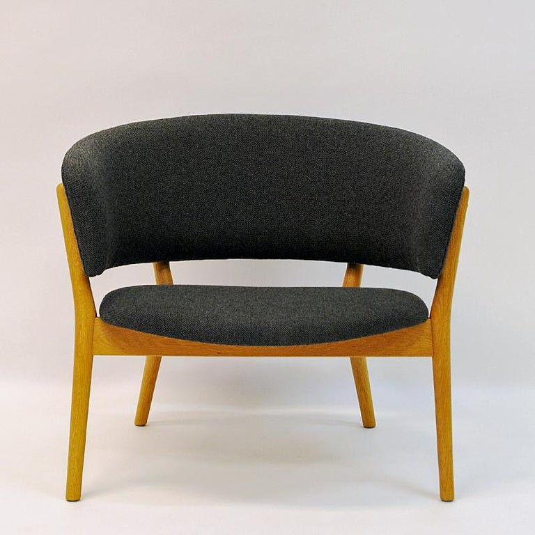 Danish Oak Easy Chair Mod ND83 by Nanna Ditzel, Denmark, 1950's In Good Condition For Sale In Stockholm, SE