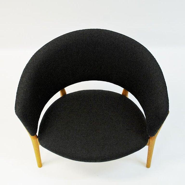 Danish Oak Easy Chair Mod ND83 by Nanna Ditzel, Denmark, 1950's For Sale 1