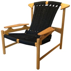 Danish Oak Lounge Chair, Handcrafted, Martin Godsk