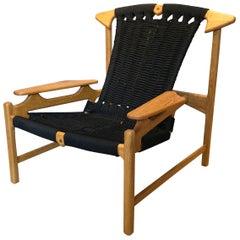 Danish Oak Lounge Chair, Handcrafted, Martin Godsk