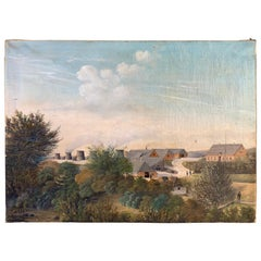 Danish Oil Painting Dated 1884