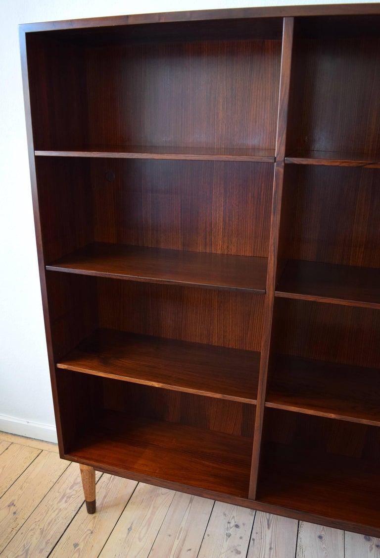 Mid Century Modern Danish Omann Jun Rosewood Bookshelf Cabinet 1960s For Sale