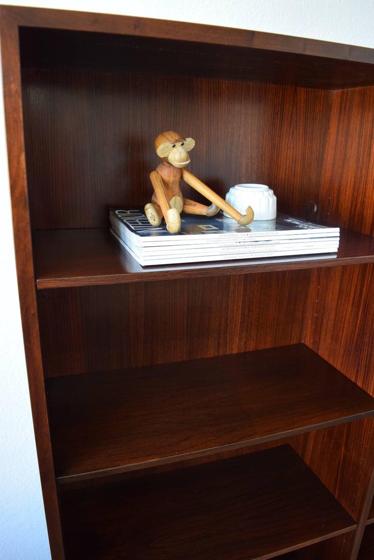 Mid 20th Century Danish Omann Jun Rosewood Bookshelf Cabinet 1960s For Sale