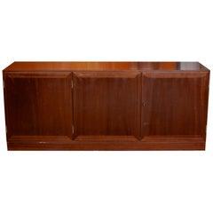 Danish Omann Jun Rosewood Sideboard Long Record Cabinet