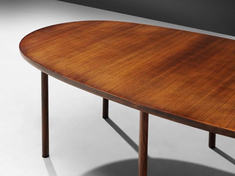 Scandinavian Modern Danish Oval Dining Table