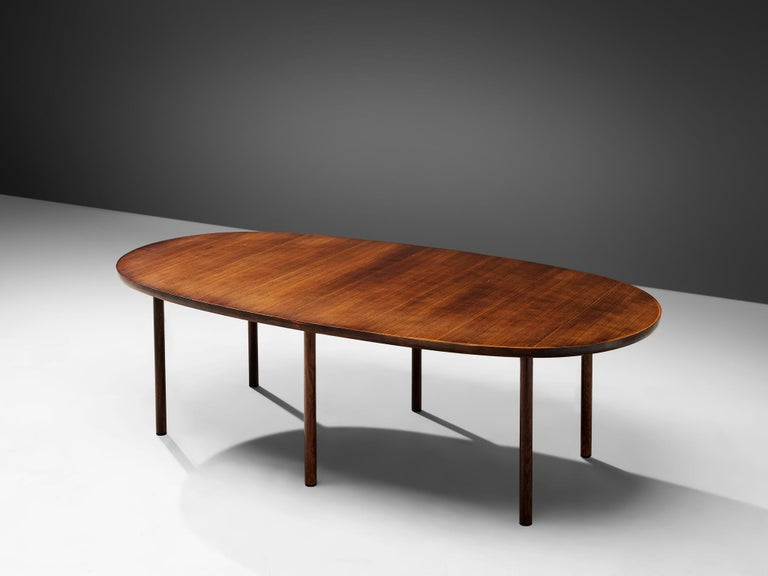 Danish Oval Dining Table In Good Condition In Waalwijk, NL