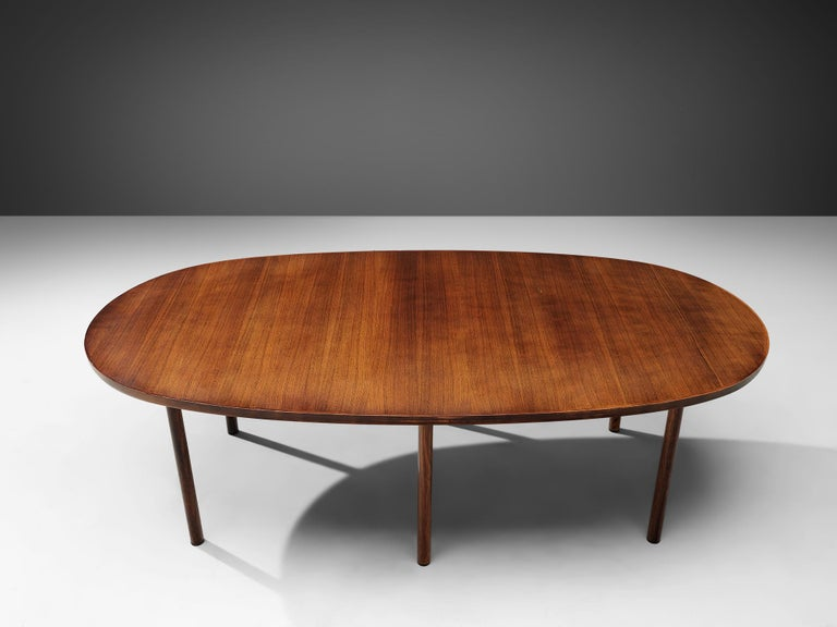 Rosewood Danish Oval Dining Table