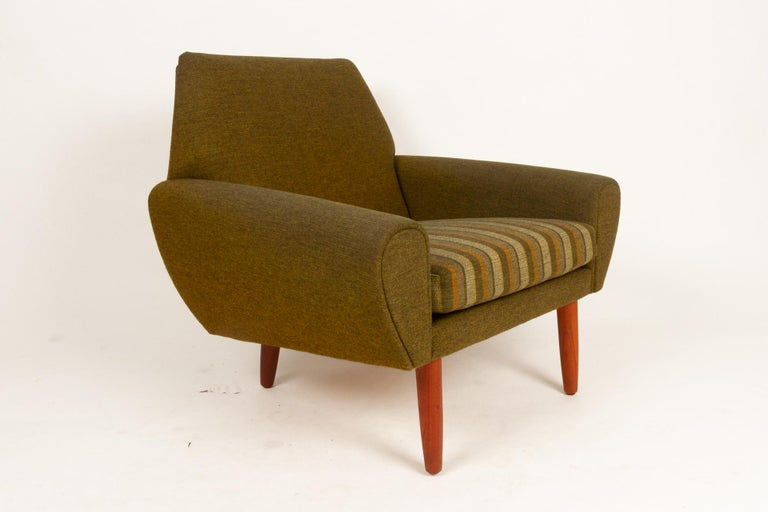 Danish Pair of Lounge Chairs by Kurt Østervig, 1960s For Sale 4