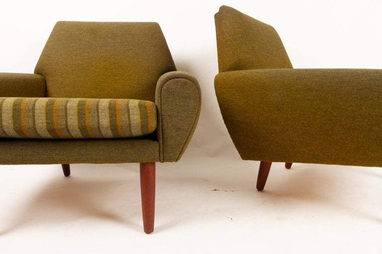 Danish Pair of Lounge Chairs by Kurt Østervig, 1960s For Sale 9