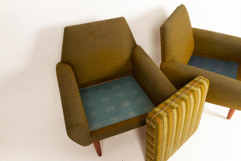 Danish Pair of Lounge Chairs by Kurt Østervig, 1960s For Sale 11