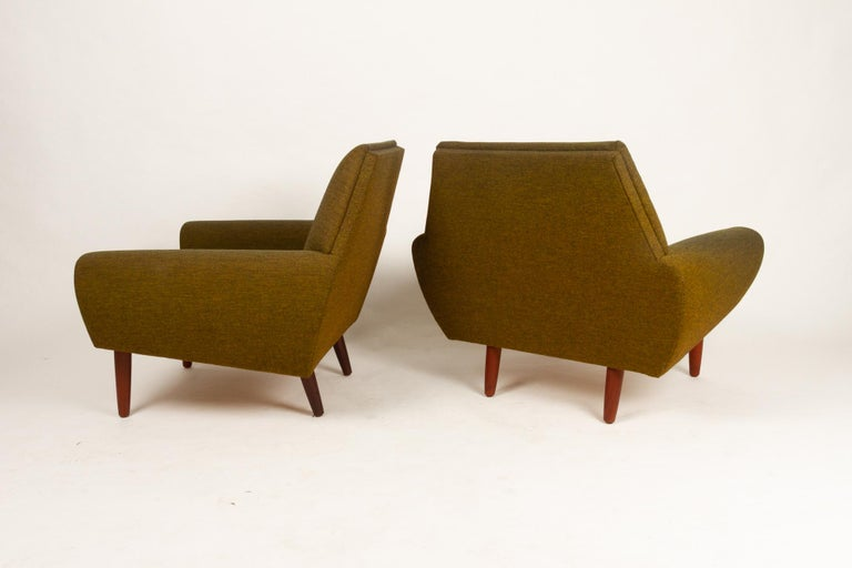 Mid-Century Modern Danish Pair of Lounge Chairs by Kurt Østervig, 1960s For Sale