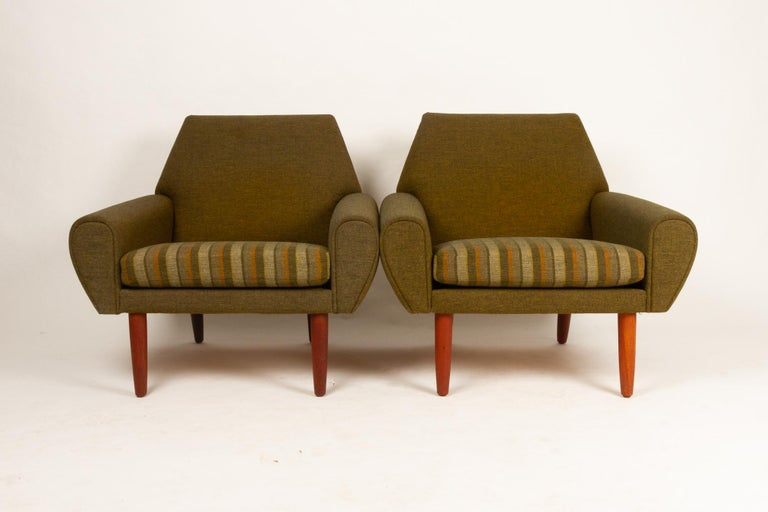 Danish Pair of Lounge Chairs by Kurt Østervig, 1960s In Good Condition For Sale In Nibe, Nordjylland