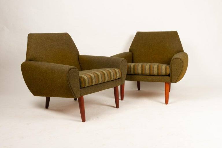 Mid-20th Century Danish Pair of Lounge Chairs by Kurt Østervig, 1960s For Sale