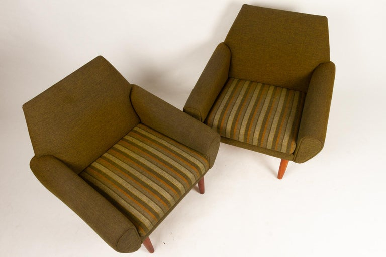 Danish Pair of Lounge Chairs by Kurt Østervig, 1960s For Sale 2