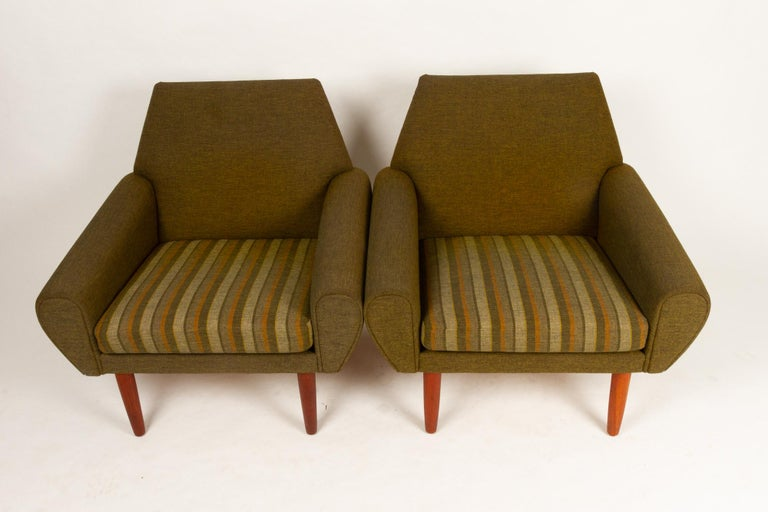 Danish Pair of Lounge Chairs by Kurt Østervig, 1960s For Sale 3