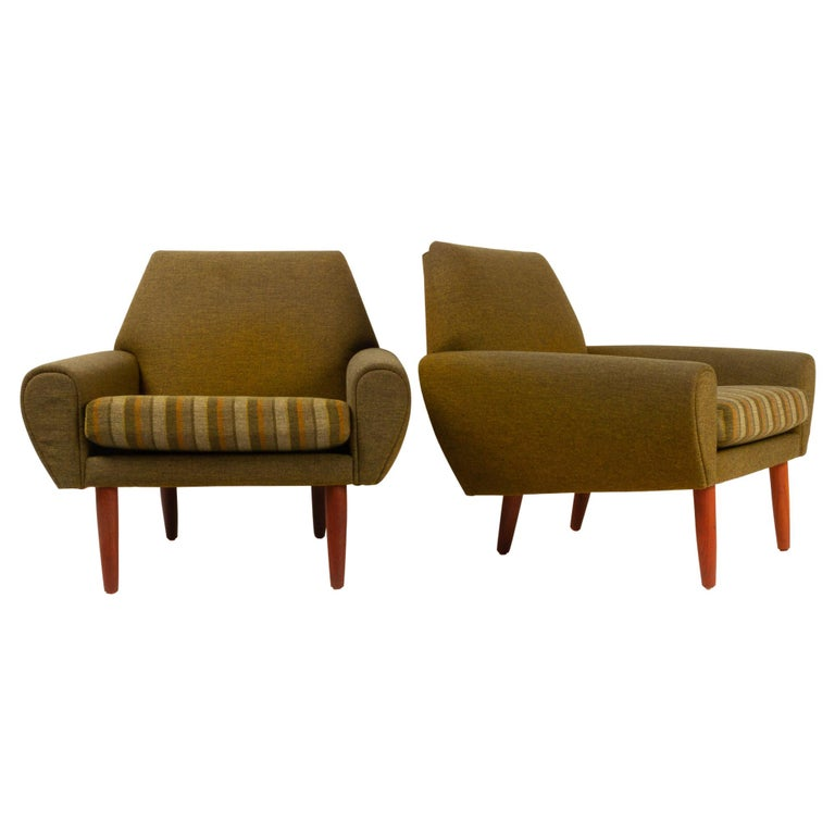 Danish Pair of Lounge Chairs by Kurt Østervig, 1960s For Sale