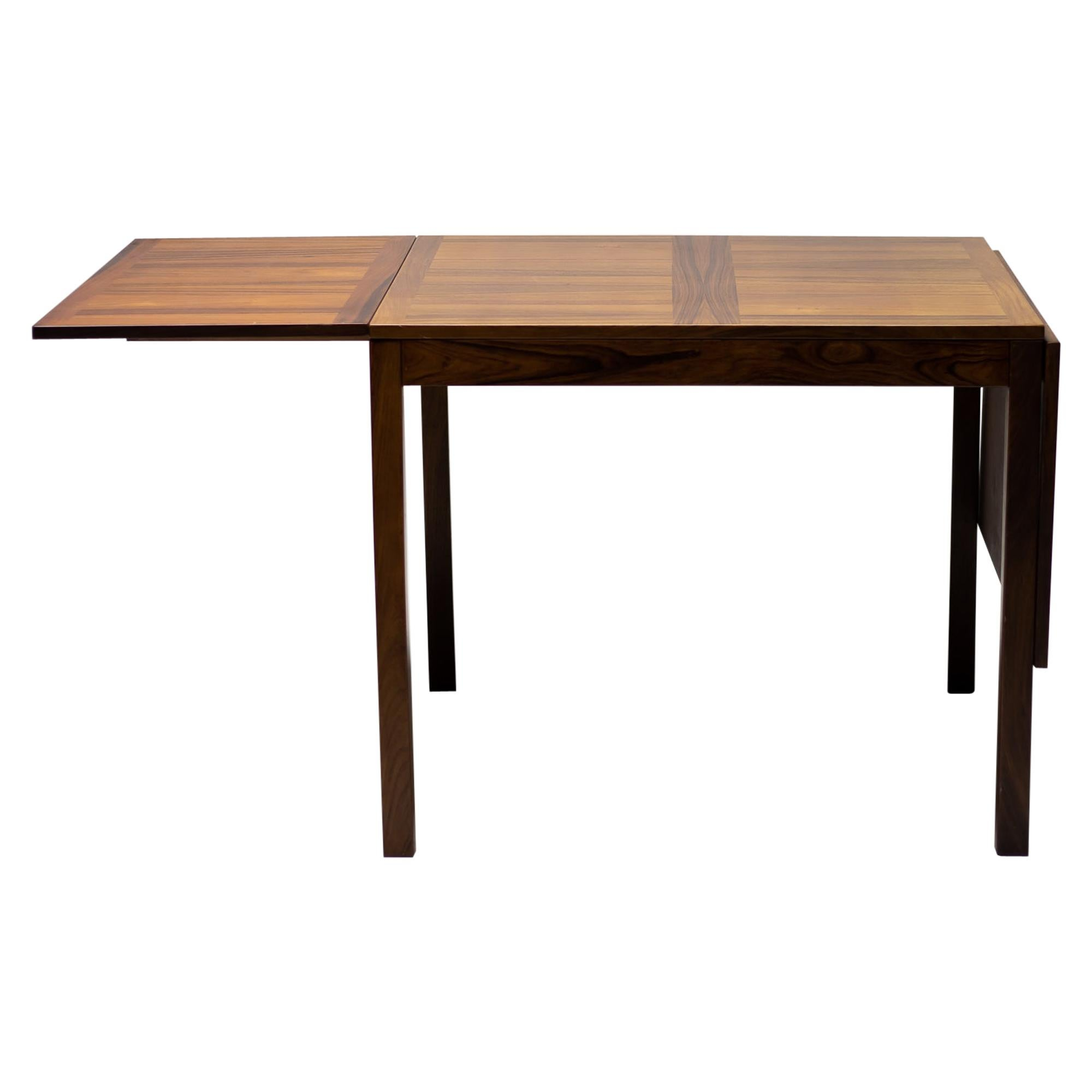 Danish Palissander Vejle Stole & Møbelfabrik Drop-Leaf Dining Table