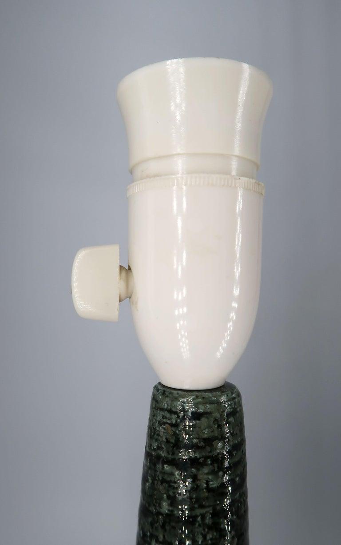 Per Linnemann-Schmidt for Palshus Danish Green Stoneware Table Lamp, 1960s For Sale 3