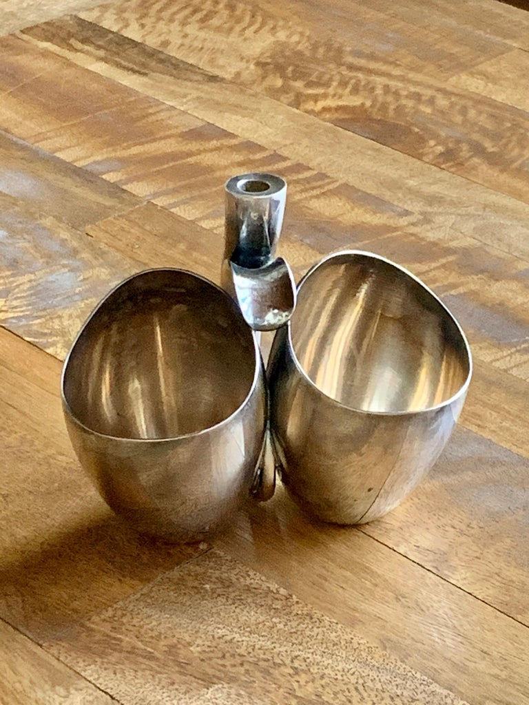 Danish Paul Bang Modernist Sterling Silver Cups '2' For Sale 7