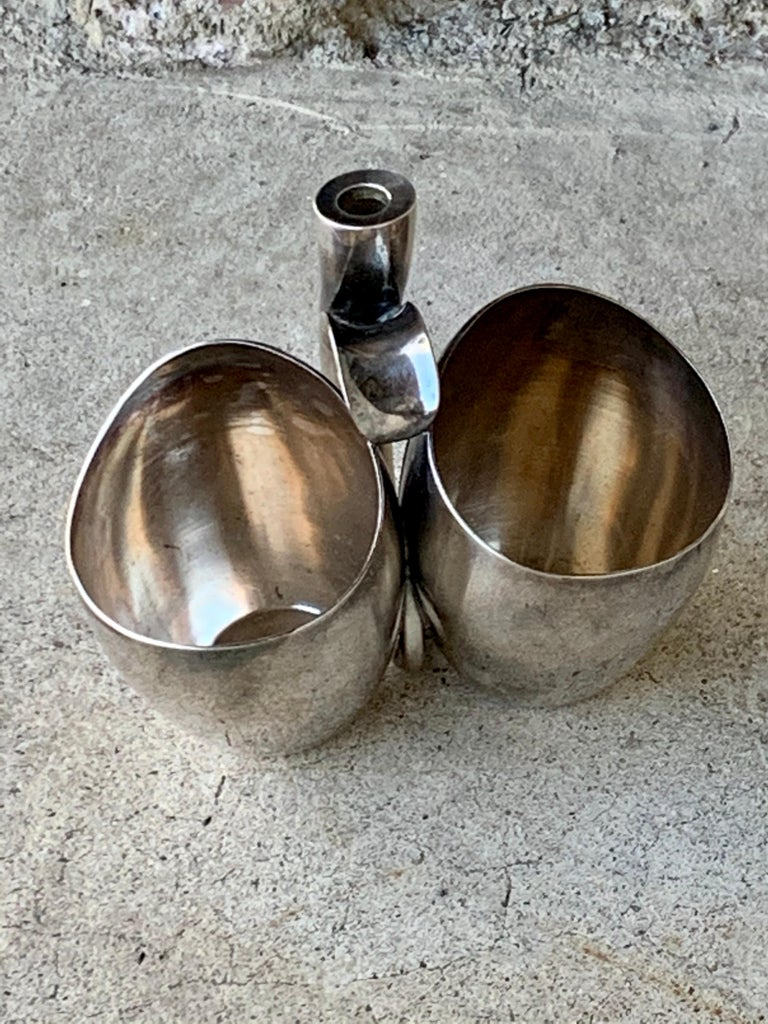 Danish Paul Bang Modernist Sterling Silver Cups '2' In Good Condition For Sale In St. Louis Park, MN