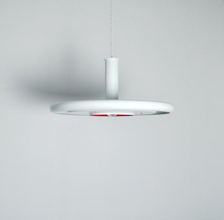 Scandinavian Modern Danish Pendant by Fog & Mørup, Model 'Optima' Designed by Hans Due For Sale