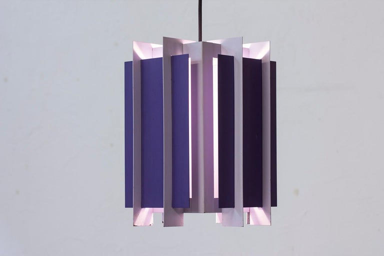Lacquered Danish Pendant Lamp by Bent Karlby for Lyfa, 1960s