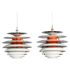 Danish PH Contrast Lamp by Poul Henningsen for Louis Poulsen, 1962, Set of 2