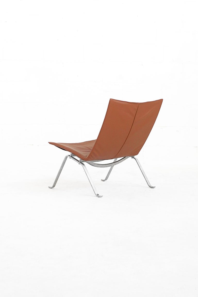 Danish PK22 Lounge Chair by Poul Kjærholm for E. Kold Christiensen In Excellent Condition In TORONTO, CA