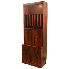 Danish Poul Hundevad Midcentury Rosewood Cabinet Hutch