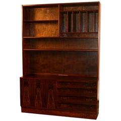 Danish Poul Hundevad Midcentury Rosewood Cabinet Hutch